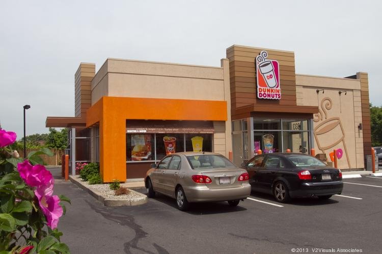 This Dunkin' Donuts store in Lynn is one of the first stores in Massachusetts to feature the chain's new format.