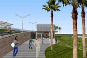 This rendering shows the Honolulu Authority for Rapid Transportation's proposed rail transit station at Leeward Community College.