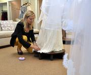 This is the bridal business' busiest time of the year.