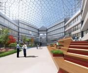 The renovations to 4000 Connecticut Ave. NW will feature plenty of green spaces and water features spread throughout the building.