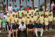 Participants from The First Tee of Charlotte, a youth development program, enjoyed their time with local sports celebrities and TV personalities during the organization's first-ever celebrity golf match.