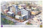 An artist's rendering of the $300 million Towson Row project.