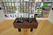 Microsoft's new Pioneer Place store offers two Xbox gaming stations.