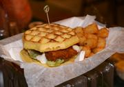 And the chicken & waffle sandwich.