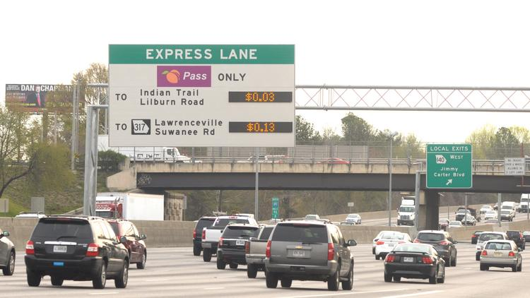Traffic on the Interstate 85 toll lanes increased by 19.6 percent last year.