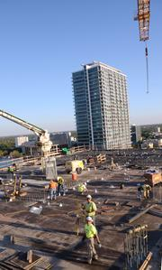 Working my way above the construction level. I'm now in the future site of the next floor.