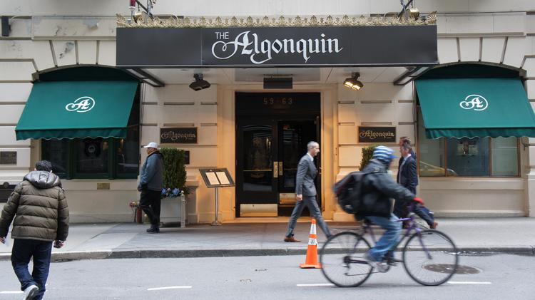 The Algonquin Hotel, at 59 W. 44th Street in New York City, opened in 1902. Today, it's part of Marriott Hotel's Autograph Collection.