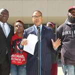 Michael Brown's family files wrongful death suit against Ferguson, Wilson, <strong>Jackson</strong>