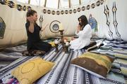 Kelli Casella, left, prepares a guest for a spiritual spa program at the Boulders, which is adopting some New Age techniques to meet the demands of a more diverse clientele.