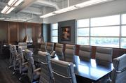 The conference room at the new Esmark corporate headquarters, which overlooks the Ohio River.