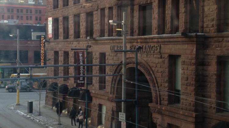The Exchange and Alibi Lounge are under construction in the basement level of the Lumber Exchange building.