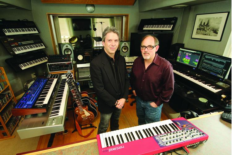 Rob Deaner, left, and Dan Ferraro of Market Street Sound developed a new direction after business dried up in 2008.