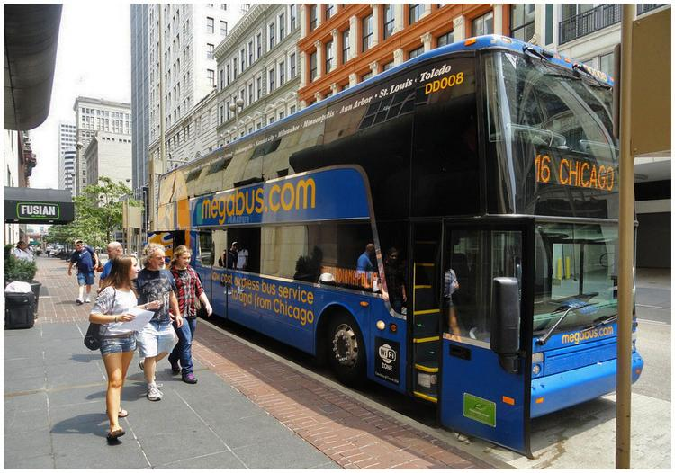 Megabus has seen continued ridership growth in Cincinnati, but may have to soon relocate its downtown stop due to reconstruction of Tower Place Mall.