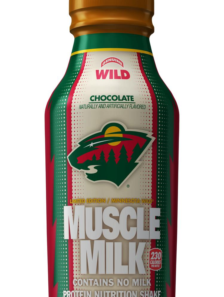 The Minnesota Wild is partnering with Muscle Milk parent company CytoSport to launch a co-branded bottle featuring the Wild's logo and colors.