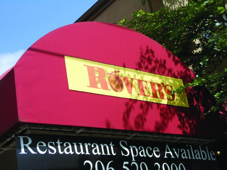 """SIGNING OFF: The """"space available"""" sign on the entryway awning of Rover's restaurant in Seattle's Madison Valley says it all."""