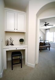 A built-in desk is featured off one of the bedrooms at Molly's Walk in Roseville.