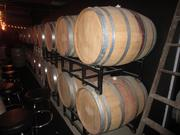Barrels in the cellar of Pittsburgh Winery are fully functional as well as decorative. The wines made at Pittsburgh Winery can also be found in 25 local restaurants.