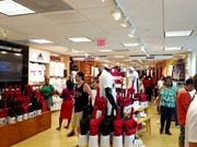 Crowds buy Miami Heat gear at the official store on Thursday in downtown Miami.