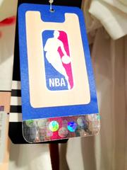 Official NBA gear shows a hologram of a bouncing ball.