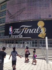 Buzz builds on Thursday near the AmericanAirlines Arena in downtown Miami.