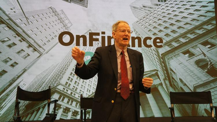 George Gilder, author and economist, speaks at AlwaysOn's OnFinance conference held at the Nasdaq Marketplace on April 30, 2015.