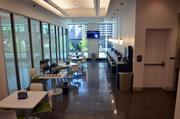 A view of the new cafe at the Wake County Justice Center