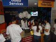 A Guest Services station at a Miami Heat game.