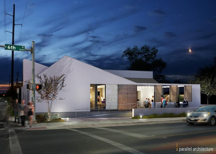 Paul Qui's signature restaurant sports sleek lines and a contemporary feel at its site on East Sixth Street.