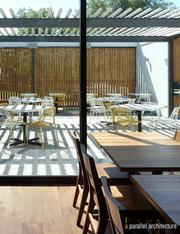 Guests may enjoy some al fresco options while dining outside at Qui.