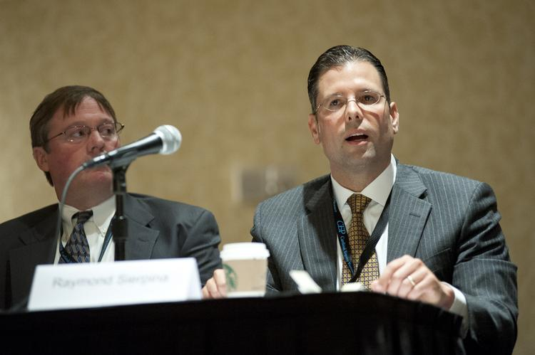 Raymond J. Sierpina Jr., vice president of public policy and governmental affairs for Kindred Healthcare Inc., made a point during the senior health care discussion at the Mid-South ACG Capital Connection conference.
