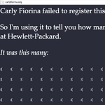 <strong>Carly</strong> <strong>Fiorina</strong> should have registered this domain name