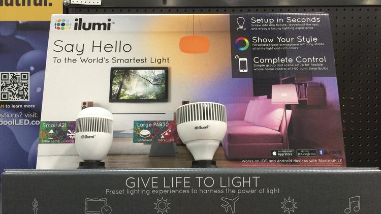 ilumi will soon have displays of its smart LED light bulbs at all 34 Fry's Electronics stores nationwide.