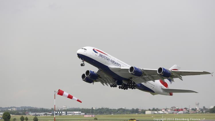 Airbus saw lower costs on its A380 program in the first quarter.