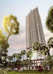 Ott provided the conceptual design for the 1100 Millecento project for The Related Group, which is part of a new wave of condominium development in the Brickell neighborhood of Miami.