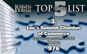 3. Lee's Summit Chamber of Commerce, Lee's Summit, Mo., 976 members
