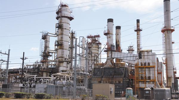 A file photo of a Tesoro Corp. refinery. Two refinery workers on the West Coast were injured today after a chemical release.