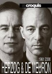 """Architects Jacques Herzog & Pierre de Meuron, of Herzog & de Meuron, have been brought onto several projects in Miami, including the Jade Signature for Edgardo Defortuna and the Perez Art Museum Miami that is now under construction. The book cover is of """"Herzog & de Meuron 1981-2000"""" on Amazon.com."""