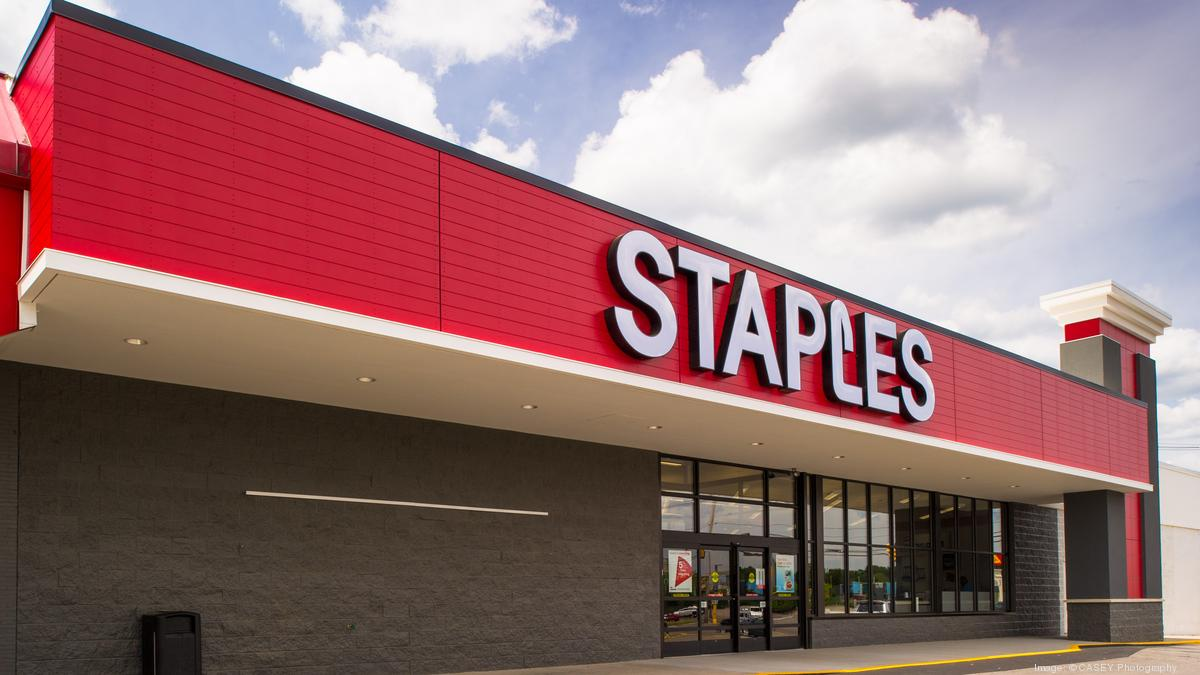 Staples Store Front Staples sales executive Mike