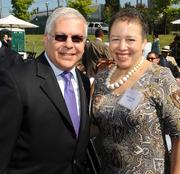 Opher Aviran, consul general of Israel, and Beverly Tatum at the groundbreaking for the National Center for Civil and Human Rights on June 27, 2012.