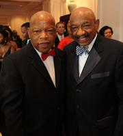 """John Lewis, left, and Herman Russell at the National Black Arts Festival's """"A Ruby Evening"""" event last July."""