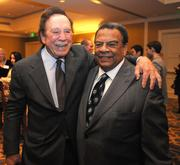 John Potnman, left, with Andrew Young