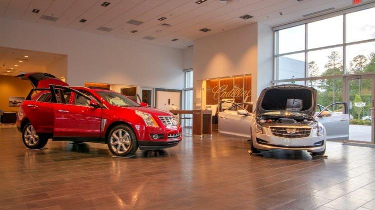 The Cadillac Showroom At The New Hendrick Chevrolet Buick GMC Cadillac  Southpoint Dealership In South Durham
