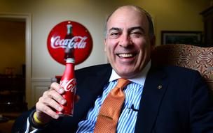 Ahead of Coca-Cola's earnings report next week, chairman and CEO Muhtar Kent is under the microscope when it comes to declining U.S. sales, and his marketing strategy, which revolves around sticking to Coke as the flagship product.