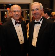 Raymer Sale, left, and Philip Wolfe at the Gwinnett Chamber's annual dinner on Feb. 1.