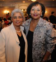 Shirley Franklin, left, and Carol Jenkins of The Women's Media Center at the 2012 Women's Empowerment Breakfast on Nov. 27, 2012.