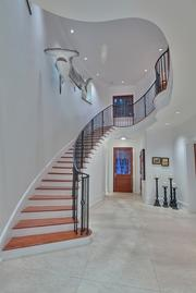 The entryway and staircase – with hammerhead – at 43 Star Island.