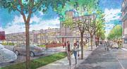 Second Overton Square concept drawings of Trimble Avenue by LRK