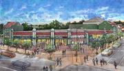 Overton Square concept drawings of Central and Madison by LRK