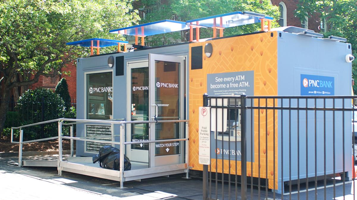Portable Business Center : Portable pnc bank branch pops up in charlotte