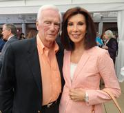 NASA astronaut Gene Cernan and his wife Jan at the book launch. Cernan went into space three times and was one of only two U.S. astronauts to visit the Moon twice during the Apollo missions.